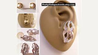 Monet Vintage Earrings Set 1