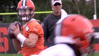 Baker Mayfield practices as Browns starting quarterback