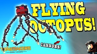 FLYING OCTOPUS with TENTACLE CANNONS!? - Trailmakers Early Access Gameplay Ep25