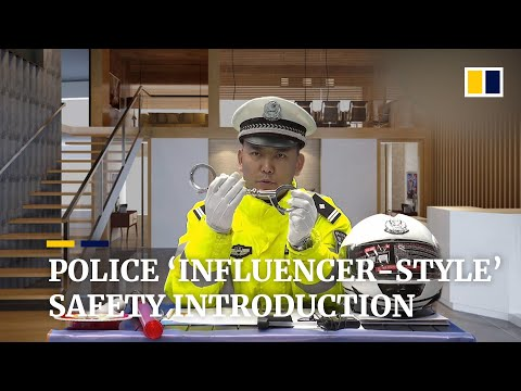 Police 'influencer-style' safety introduction goes viral online in China
