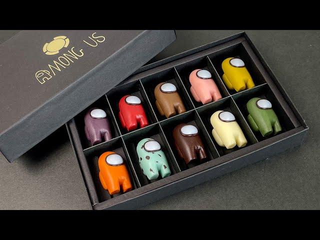 【粘土】Among Usなチョコレート 作ってみた - Polymer Clay Chocolate