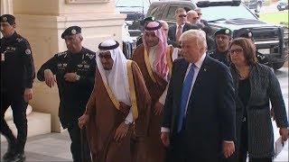 Trump arrives in Riyadh, Saudi Arabia, for his first foreign trip as president