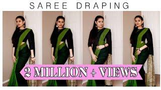 How to drape a saree | Cotton saree