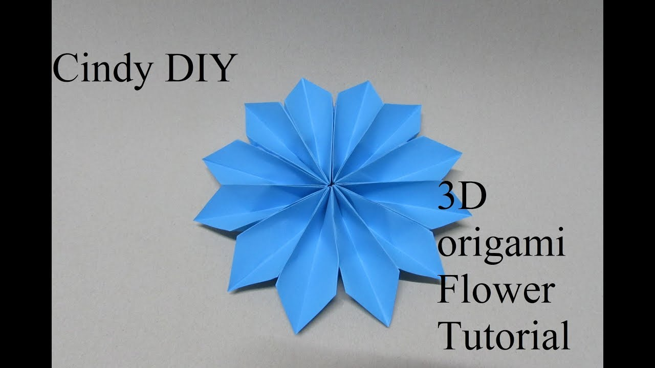 3d Easy Paper Flower Origami Step By Step How To Paper Craft Cindy Diy