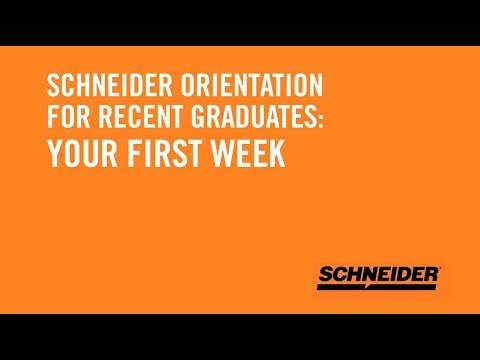 What to expect at Schneider's truck driver orientation?