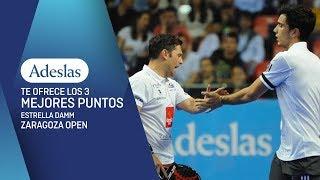 Los tres mejores puntos ADESLAS del Estrella Damm Zaragoza Open 2018