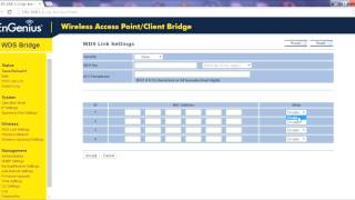 setting up a point to point link using wds bridge mode