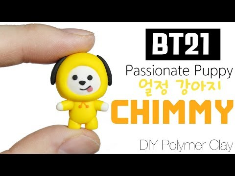 BTS JIMIN BT21 BTPlanet Series: How to DIY CHIMMY Polymer Clay Tutorial