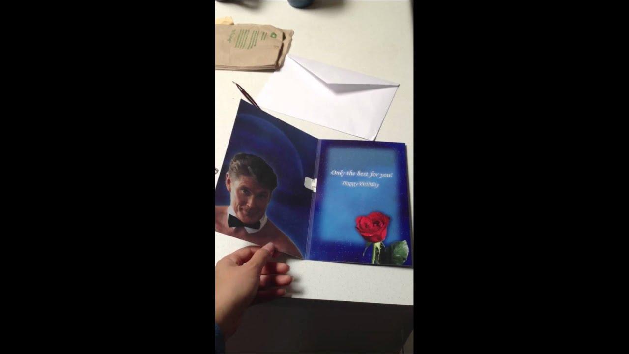 The Hoff Birthday Card Youtube