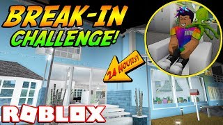 I BROKE INTO MY FANS' HOUSE FOR 24 HOURS! (Roblox Bloxburg)