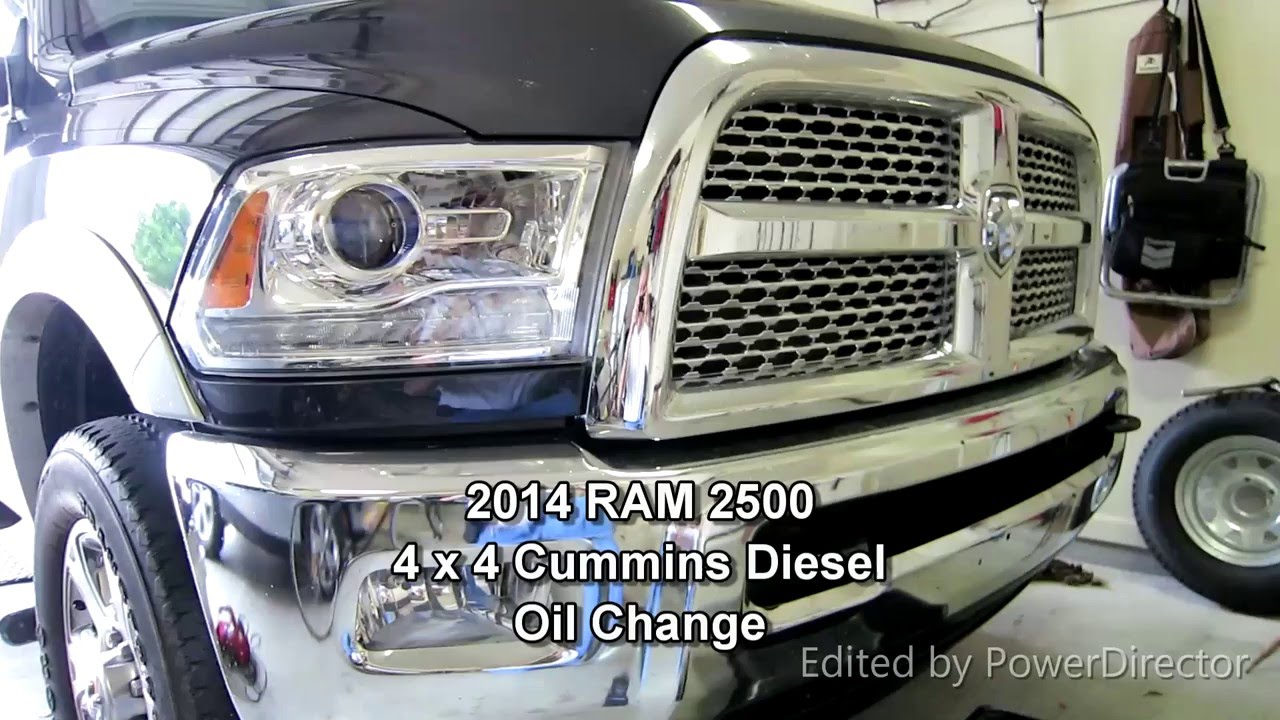 2014 ram cummins 6 7 oil change youtube. Black Bedroom Furniture Sets. Home Design Ideas