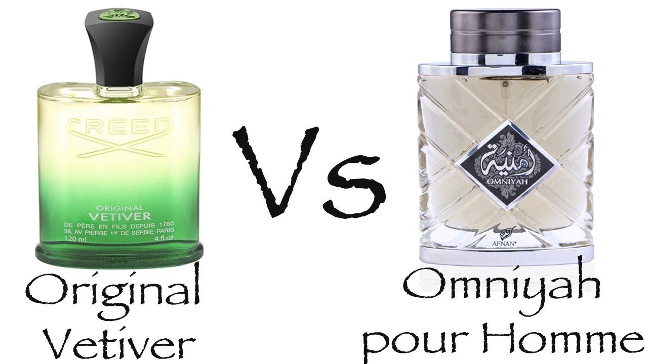 Creed Original Vetiver Vs Afnan Omniyah Pour Homme Fragrance Parfum Amouage Reflection For Men Youtube Premium