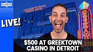 🔴 LIVE 🎉 $500 on Slots @ Greektown in Detroit ✪ BCSlots