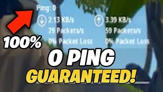 Comment obtenir 0 ping sur Fortnite (WITH PROOF)