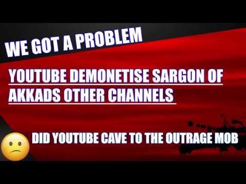 Demonetises Sargon of Akkad&39;s The Thinkery & Sargon of Akkad  Channels