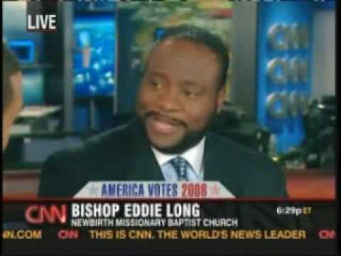 Bishop Eddie Long on CNN during Campaign with Don Lemon