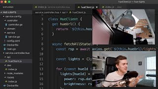 Controlling Hue Lights with JavaScript | Home Automation #04
