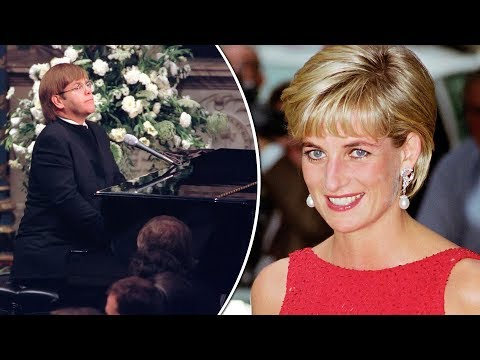 Why did Elton John perform Candle In The Wind for Diana and how were the lyrics changed?