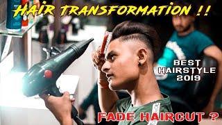 Mens Hair Transformation   Skin Fade Haircut & Hairstyle Tutorial   Top Hairstyle 2019