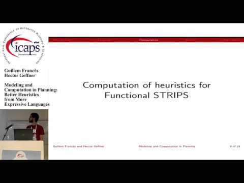 "ICAPS 2015: ""Modeling and Computation in Planning: Better Heuristics from More Expressive ..."""