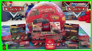 Worlds Biggest SURPRISE egg Lightning McQueen Toys Unboxing disney cars collection