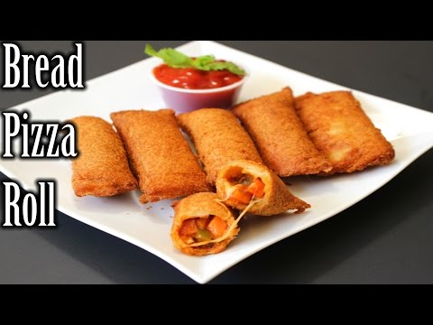 Bread Pizza Roll Recipe | Quick and Easy Bread Roll Recipe | How to Make Bread Pizza Roll