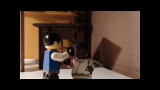 the karate kid trailer in lego!