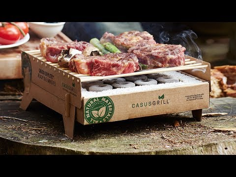 CasusGrill   Instant Biodegradable Grill
