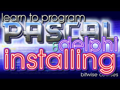 Download and Install Lazarus and Free Pascal or Delphi -- learn to program with Pascal