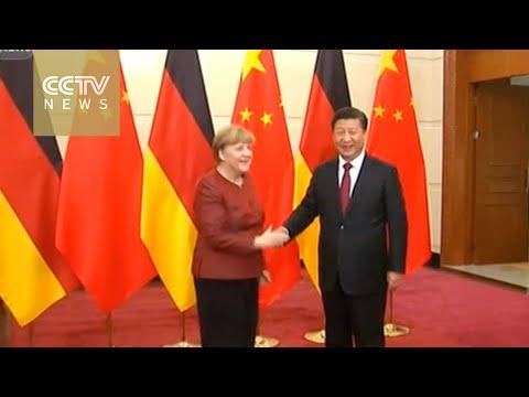 President Xi and Premier Li meet Chancellor Merkel