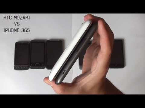 HTC Desire HD, Desire Z, Mozart, HD7, Desire, iPhone, Acer Stream, dimension comparison
