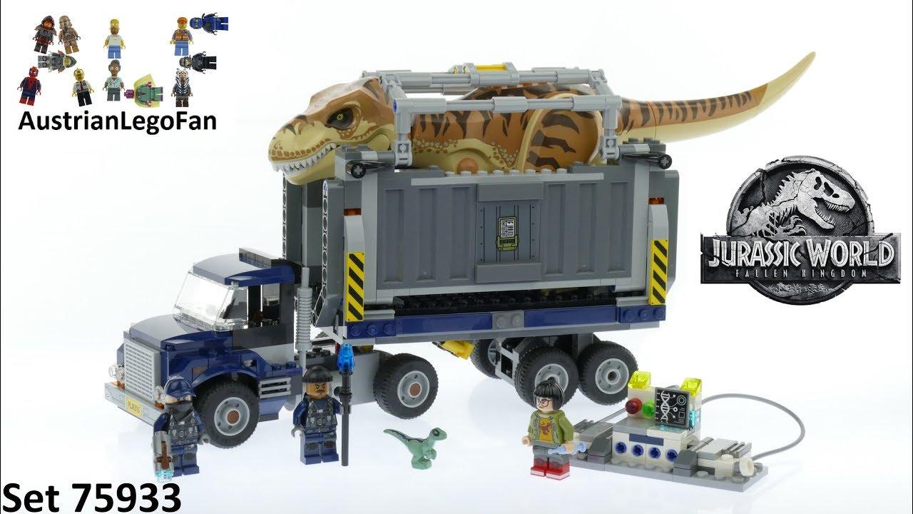75933 LEGO Jurassic World T rex Transport 2018 Brand New Sealed