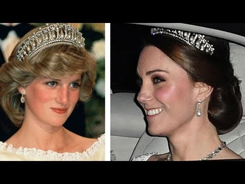 Kate wears Princess Diana's favourite tiara for Buckingham Palace reception with Camilla