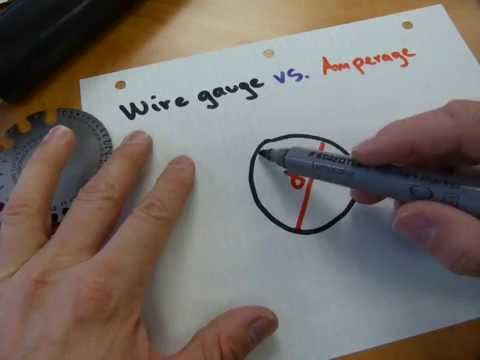 Wire size vs. amperage - YouTube