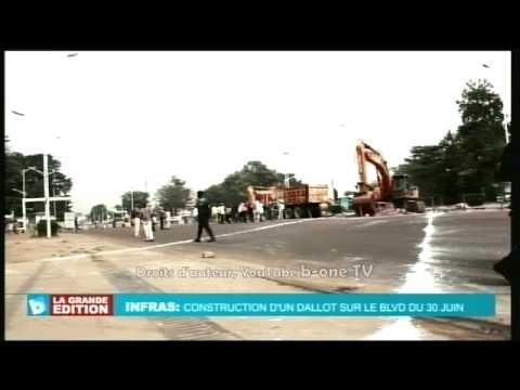 Travaux de construction sur le Boulevard du 30 Juin, Kinshasa