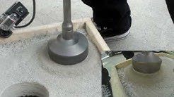 Dry Concrete Coring with your rotary hammer