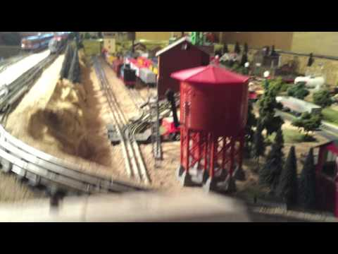 Lionel O Gauge Model Train layout