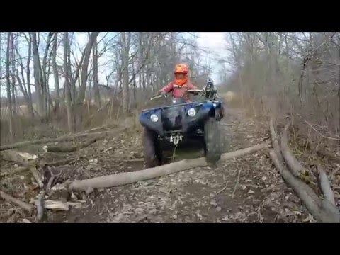 Yamaha Kodiak 450 EPS & Yamaha Grizzly 125 DEEP MUD Part1
