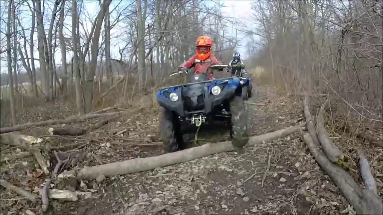 Yamaha Kodiak 450 EPS & Yamaha Grizzly 125 DEEP MUD Part1 - YouTube