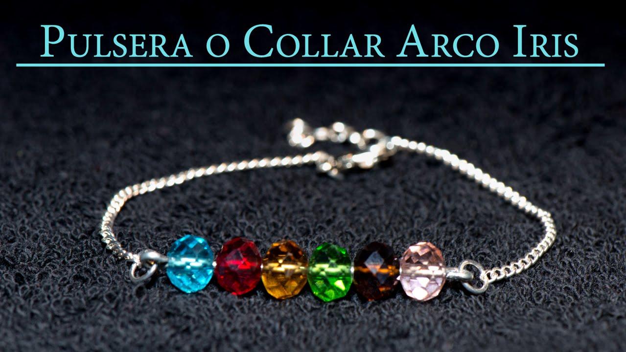 8ead59604d7b Pulsera o Collar Arco Iris o Rainbow