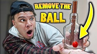 Remove The BALL From The Bottle & Win $10,000 (IMPOSSIBLE Puzzle Challenge)