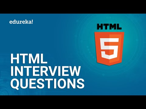 Top 50 HTML Interview Questions And Answers | HTML Interview Preparation | Edureka