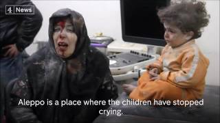 """Aleppo is a place where the children have stopped crying."" Syria"