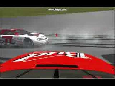 Huge Arca Sim Racing Crash