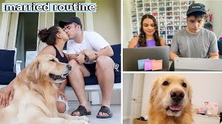 Our Married Work Routine♡ Natalie & Dennis & Jupiter 🐶