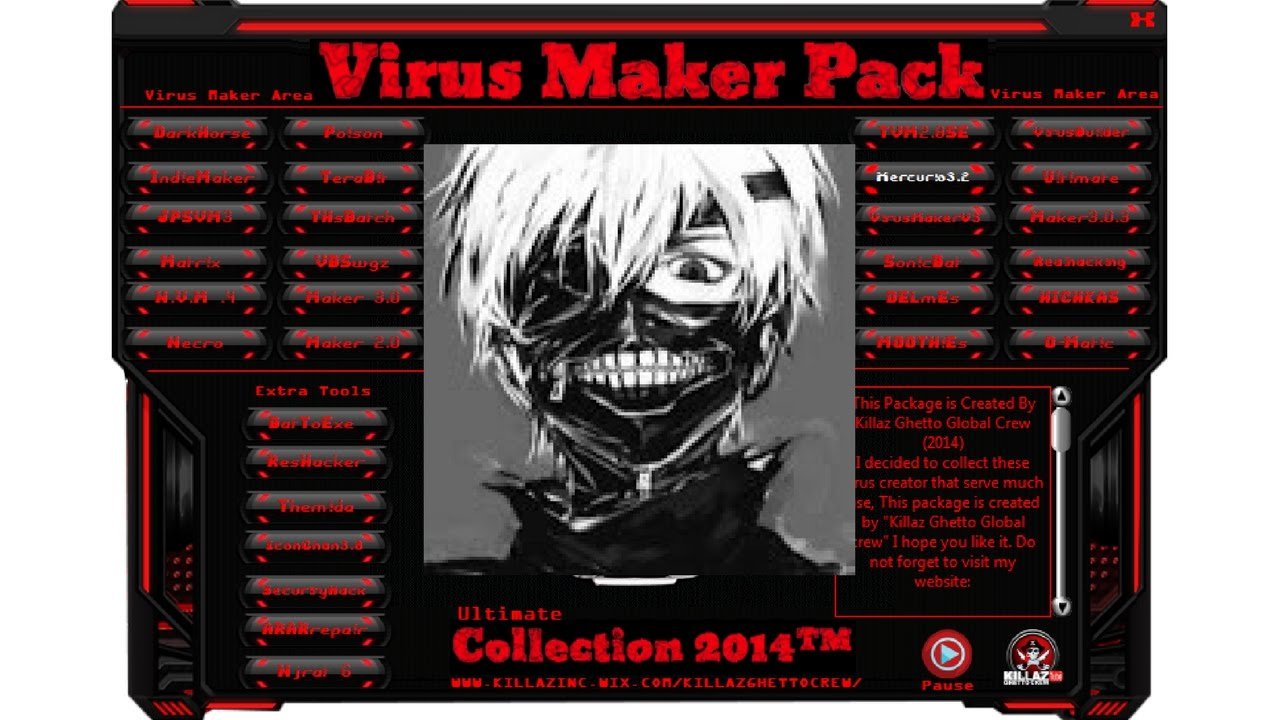 Batch virus maker tool to create your own viruses.