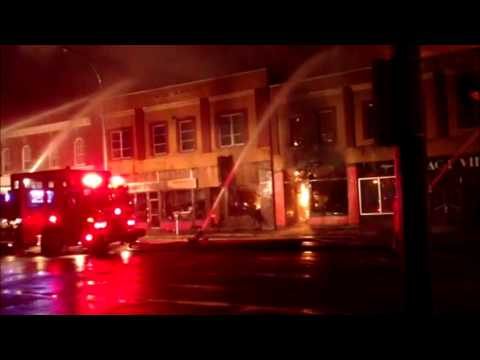 Moose Jaw High Street Fire March 13 2014