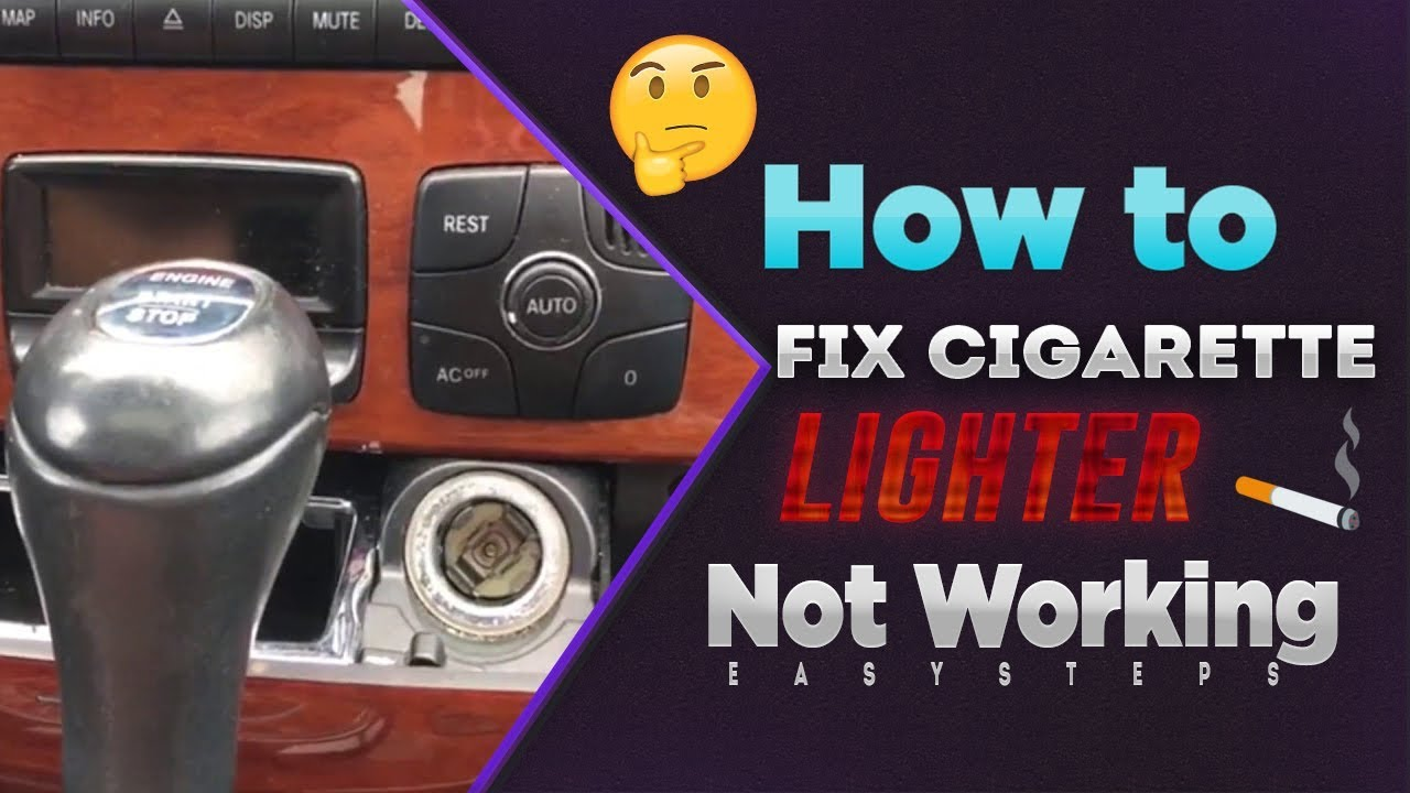 How To Fix Cigarette Lighter Not Working  YouTube