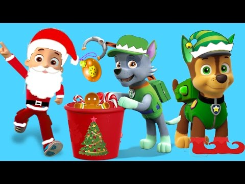Paw Patrol Christmas.Paw Patrol Pups Transforms Into Elves And Santa For Christmas Ryder As Santa Chase Rocky As Elves