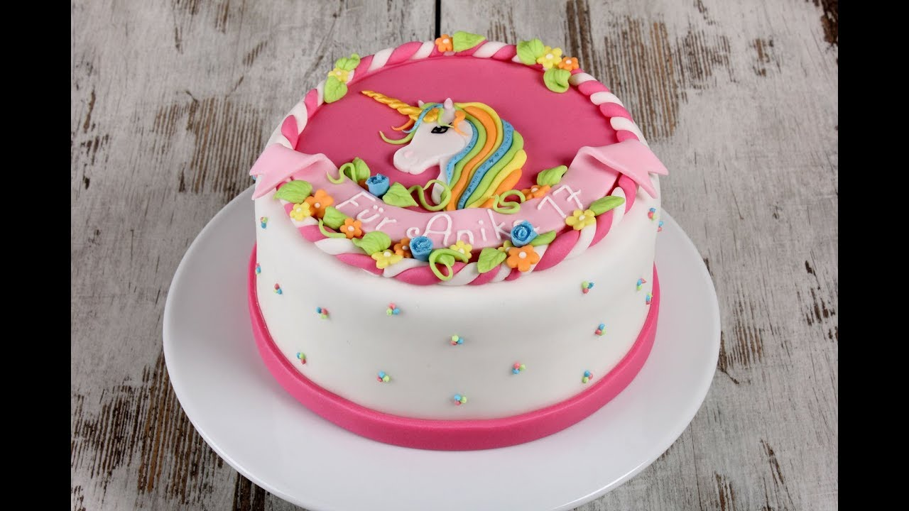 Entstehung Einer Einhorn Torte Cake Tutorial Unicorn Youtube